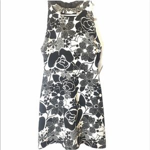 ZARA dress black and white floral size small New